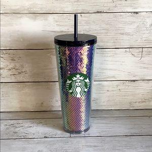Starbucks 2020 purple sequin tumbler